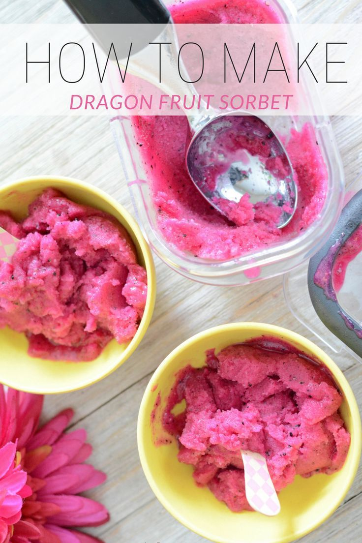 dragon fruit sorbet stored in Rubbermaid BRILLIANCE, sorbet recipes, food storage containers, giveaway, pitaya recipe, superfood recipes, healthy eating, dragon fruit ice cream,breakfast smoothie, #storedbrilliantly #ad