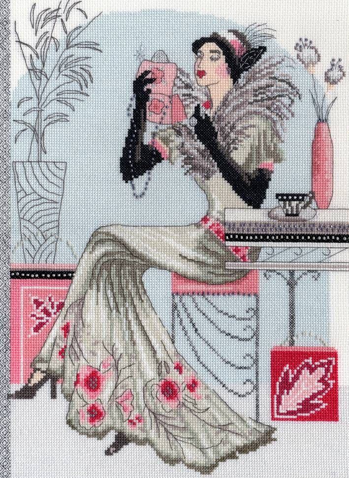 Evelyn Cross Stitch Kit - £28.25 on Past Impressions | by Bothy Threads