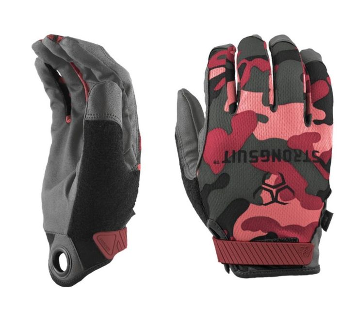 STRONGSUIT Shooting Gloves PINK CAMO 41600 Tactical Firearm Range WORK Garden #StrongSuit