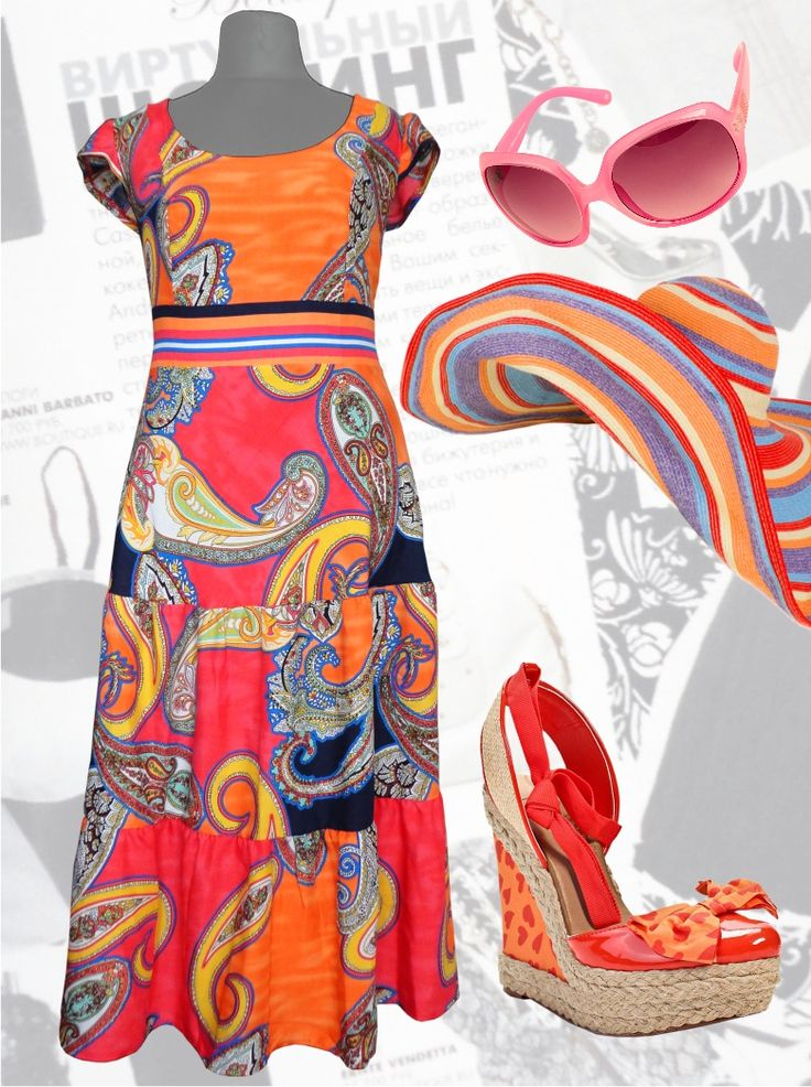 """48$ Длинное платье из штапеля для полных с расцветкой """"Красные огурцы"""" Артикул 498, р50-64 Сарафаны больших размеров Сарафаны свободные больших размеров Летние сарафаны больших размеров  Модные сарафаны больших размеров Длинные сарафаны больших размеров"""