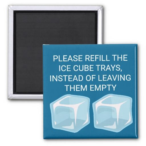 Please Refill The Ice Cube Trays   Novelty Magnet