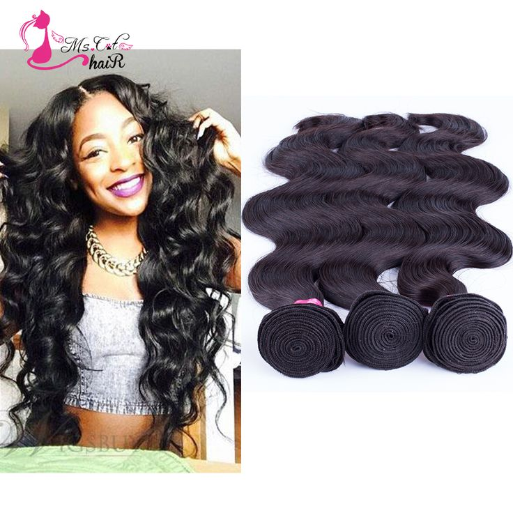 Ms Cat queens hair products 7a Malaysian body wave virgin hair natural black big curly weave 3pcs/lot human hair bundles deals