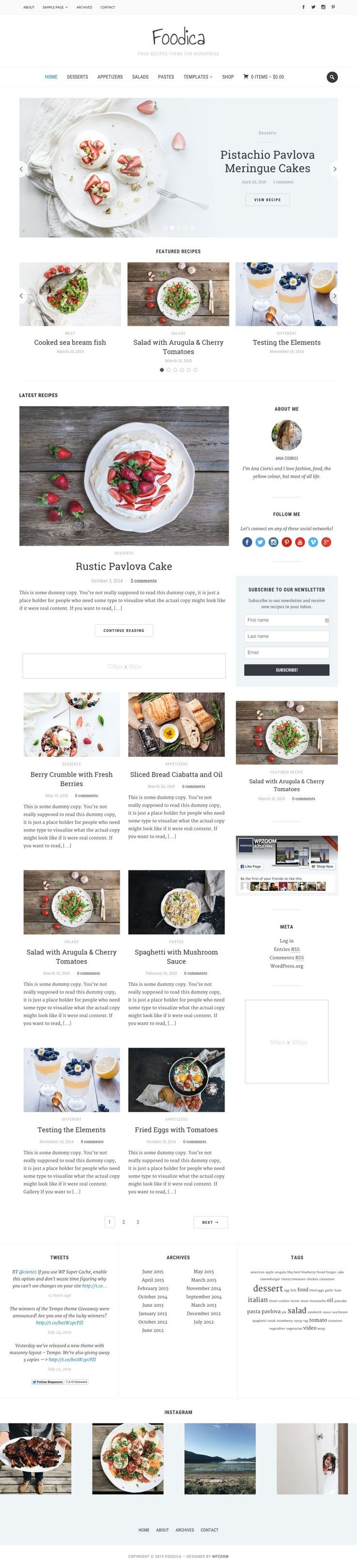 Foodica WordPress Food Recipes Magazine Theme - www.wpchats.com