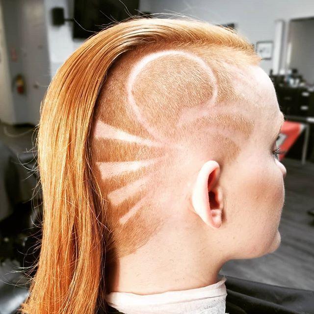 #hairdare #undercut #sidecut #hairtattoo #longhair