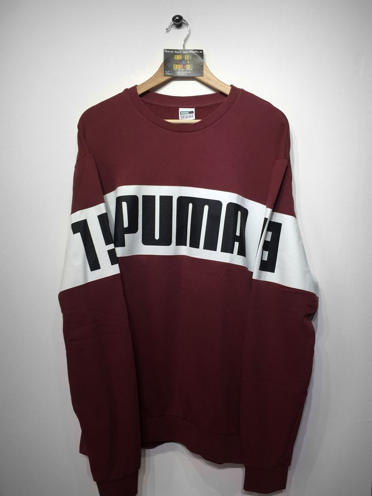 Puma sweatshirt size X/Large (but Fits Oversized) £36 Website➡️ www.retroreflex.uk #puma #vintage #oldschool #truevintage