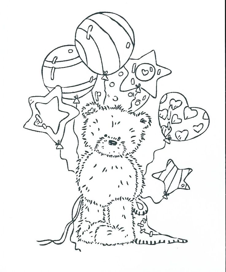 Free Printable Coloring Pages Teddy Bear : 1157 best coloring pages and other patterns images on pinterest