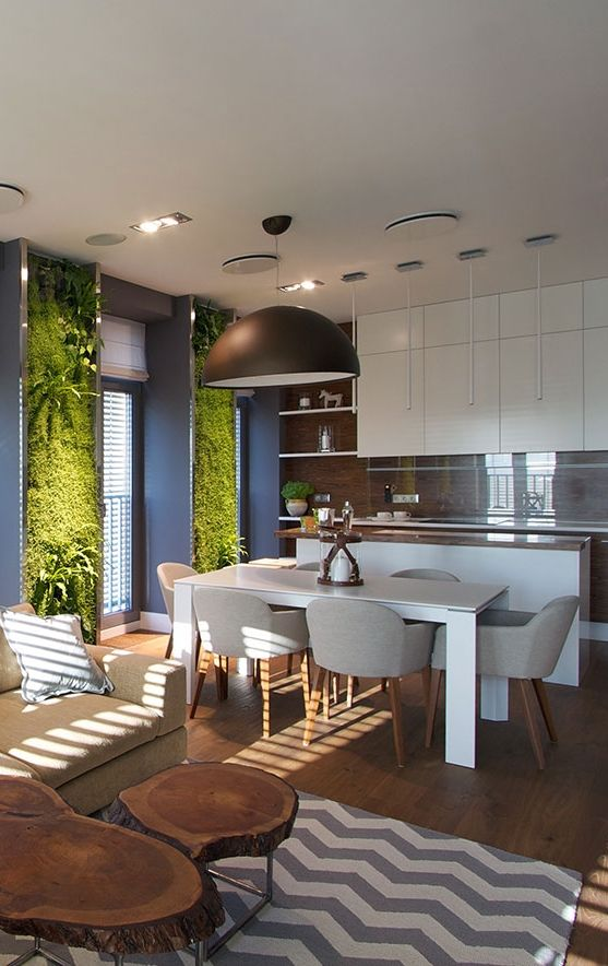 Architecture Beast: Modern Apartment Design: Green Walls by SVOYA | #ArchiBeast #apartment #interior #design #modern
