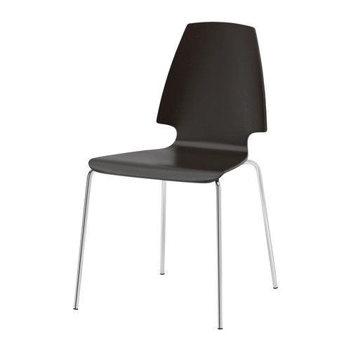 VILMAR Chair IKEA The clear-lacquered surface is easy to wipe clean. You can stack the chairs, so they take less space when you're not u...