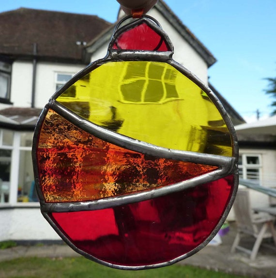 Stained glass ornament Gonna make it for the barn sale... easy (I hope)