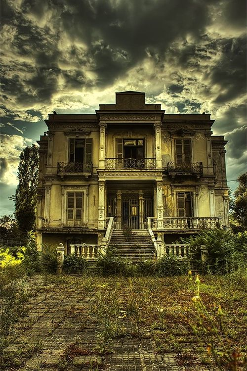 Dark House – Thessaloniki, Greece -Eerily Beautiful Abandoned Funeral Homes & Morgues