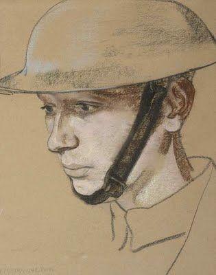 """""""Portrait of a soldier,"""" Eric Kennington (1888-1960)"""