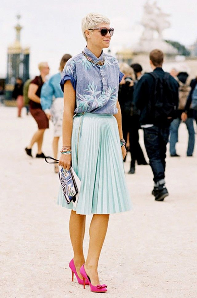 Yes i love this skirt     @Who What Wear - Stylish Summer Outfits You Can Wear To The Office