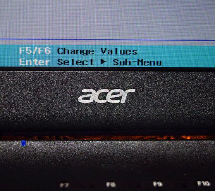 Как установить Windows 7 на ноутбук Acer