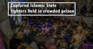 ISIS: Captured Islamic State fighters held in crowded prison