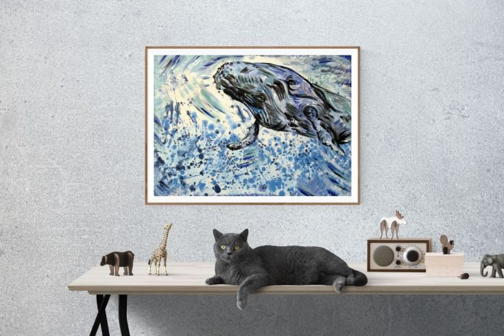 Buy Grandpa whale, Acrylic painting by Silvie Tripes on Artfinder. Discover thousands of other original paintings, prints, sculptures and photography from independent artists. 155 Eur. Original by Silvie Tripes