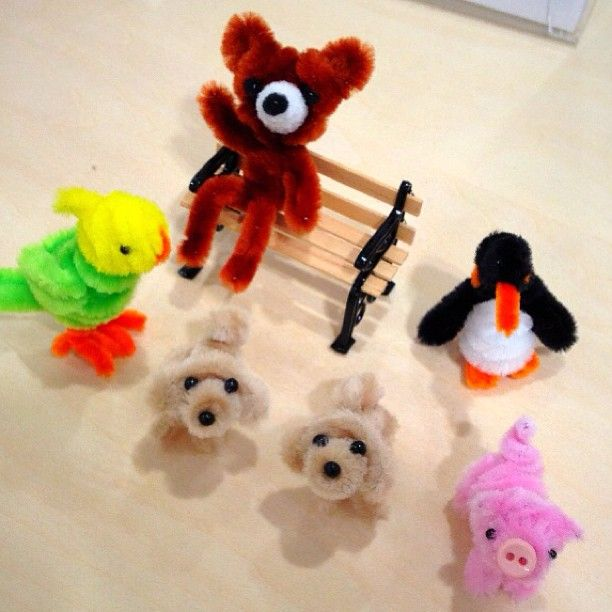 pipe cleaner animals too cute!
