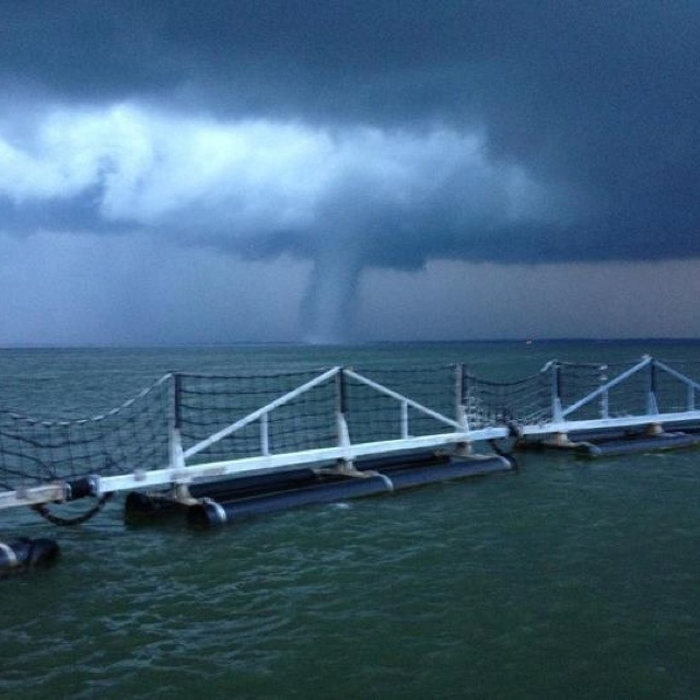 Tornado at Norfolk Naval Base, Virginia