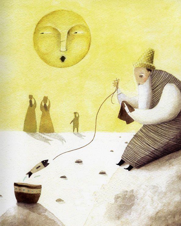 """Cecilia Varela illustration for """"El corazón del Sastre""""."""