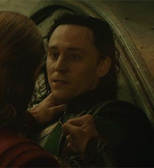 The way he looks at Thor... like he can't believe his brother isn't pounding him to a pulp right now... Oh Loki, why can't you see how loved you are???