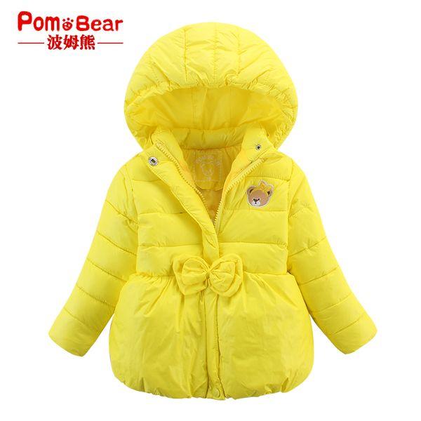 Детские куртки осень-зима из Китая :: Бом пальто зимы милый медведь детенышей девушки новые стеганые ватные куртки пальто с капюшоном ребенка теплый хлопок.