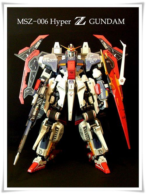 MSZ-006 Hyper Zeta Gundam Papercraft by Oadean3