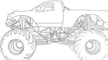 Offroad Monster Coloring Page - Off Road Car coloring ...