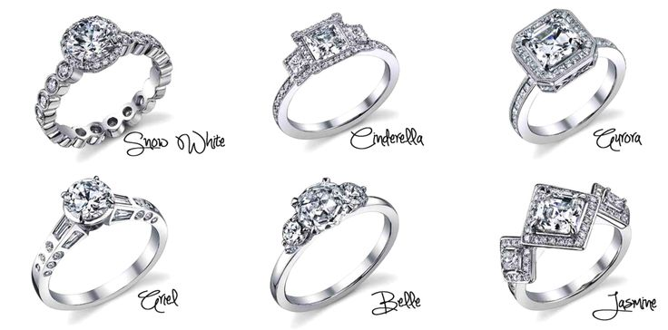 Disney princess engagement rings...I really only like Belle's in this picture for myself :)