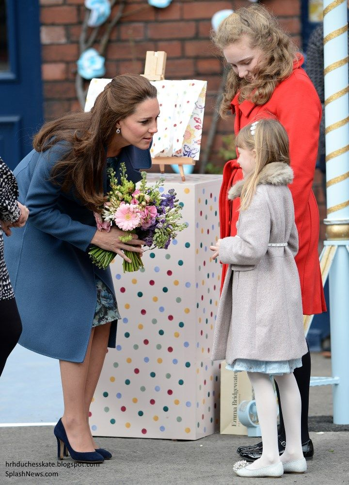 As patron of East Anglia's Children's Hospices, the Duchess of Cambridge began the day with a visit to the Emma Bridgewater factory to learn more about a special pottery project which will help to raise vital funds and awareness for the EACH Nook appeal  Feb 18, 2015.