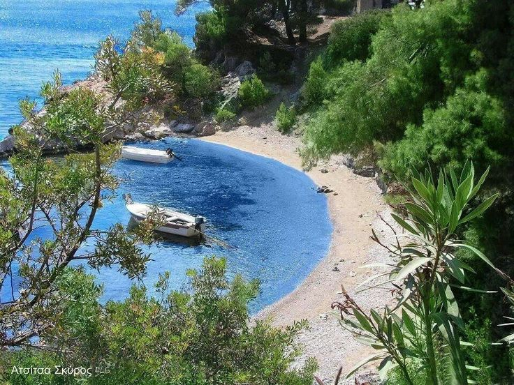 Atsitsa beach in Skyros island