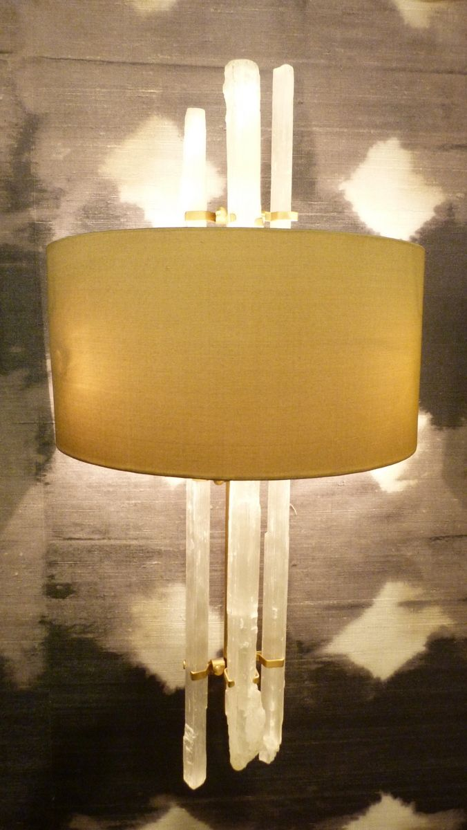 Rock crystal wall light - Phillips & Wood for Cocovara Interior Designers