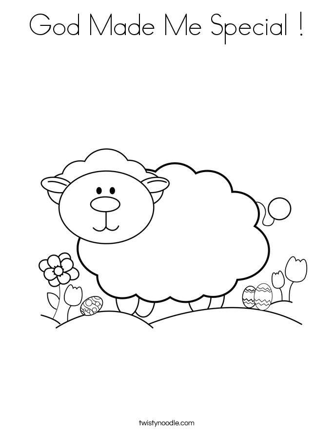 god made coloring pages - photo#36