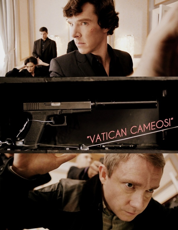 I told my sister that if I ever opened an Italian restaurant in London, I would call it Vatican Cameos. <<< THAT'S AMAZING