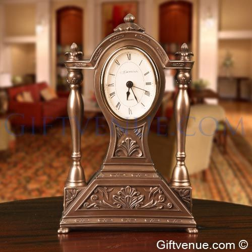 Genesis Bronze Abbey Clock - Gift for wedding, retirement or wedding anniversary