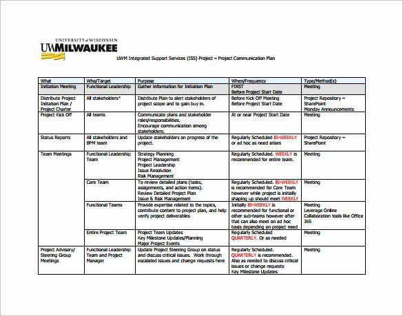 Sample Project Plan Template Excel Beautiful 9 Project Munication Plan Templates Pdf Communication Plan Template Communications Plan Project Proposal Template