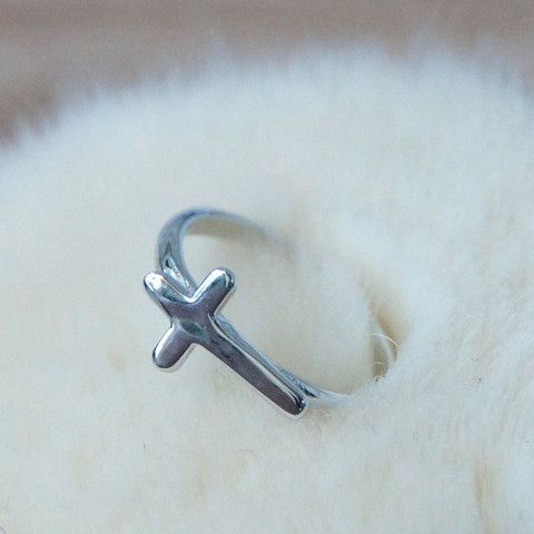 Solid cross sterling silver ring / R1115 – Jcrosswear