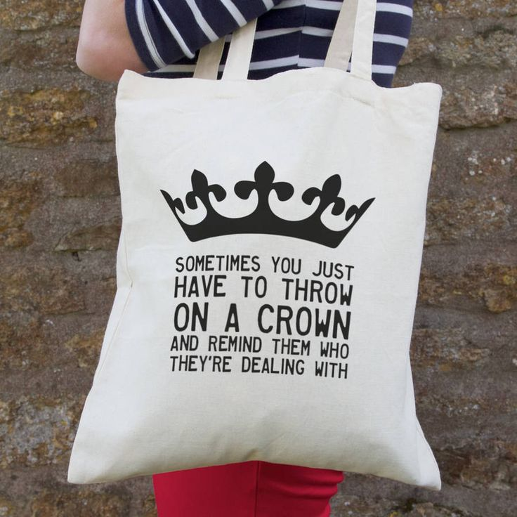Personalised 'Throw On A Crown' Quote Bag @notonthehighst #MothersDay