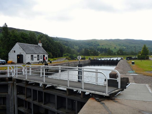 Cullochy Lock on the Caledonian Canal | Europe a la Carte Travel Blog. Our tips for 25 fun things to do in Scotland: http://www.europealacarte.co.uk/blog/2010/12/30/things-scotland/