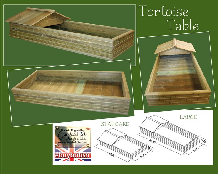 Tortoise Table - Th-tab-01 - Tortoise Houses - by Granddad