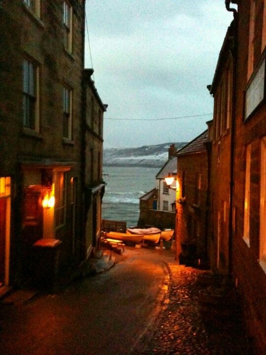 Robin Hoods Bay after the storm