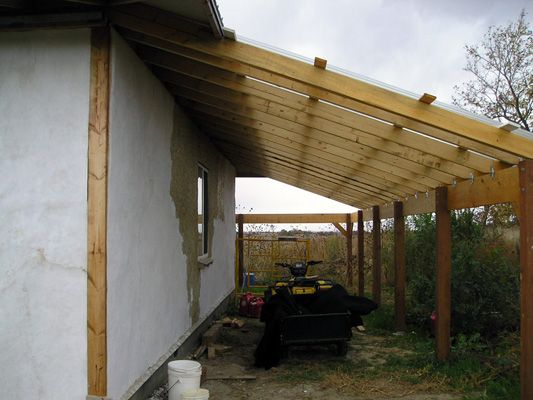 Recycled materials woodworking plans and picnics on pinterest for Lean to addition to garage