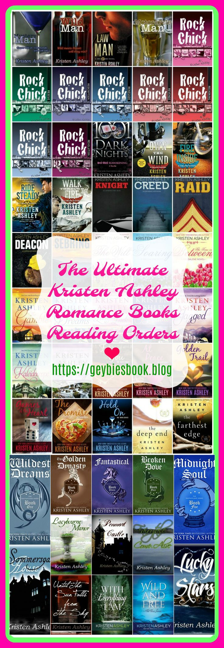 Kristen Ashley books reading orders