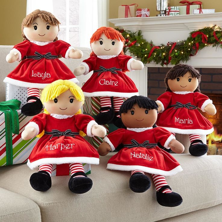 Personalized Christmas Rag Doll,a gift your little girl will treasure! Our Rag Dolls Have A Sweet Embroidered Face And Are Dressed In A Festive Red Velour Christmas Dress, Red Hair Bows And Darling Black Velour Shoes. Best Of All, She Looks Just Like Your Little Girl! http://kittykatkoutique.com/personalized-christmas-rag-doll-new-adorable/