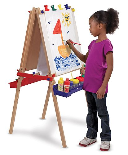 Melissa and Doug Deluxe Wooden Standing Art Easel - We've used this one for 8 years now and with two kids! Still going strong and still love it.