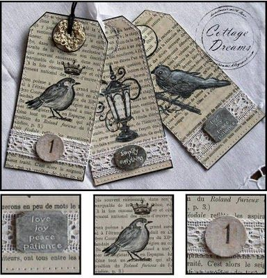 Cottage Dreams: Bird Tags and Little Keys