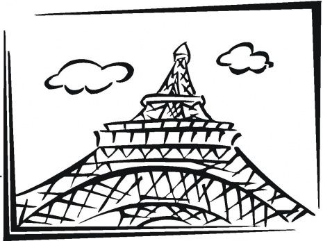 Eiffel Tower In Paris Coloring Page 465x
