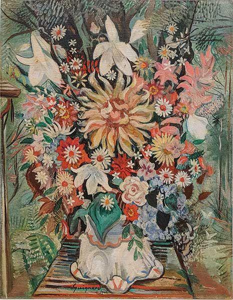 Vaso de Flores, 1941  Alberto da Veiga Guignard (Brasil, 1896-1962)  óleo sobre madeira,70 x 55 cm