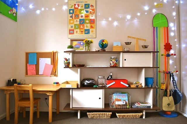 132 best montessori baby images on pinterest montessori for Kids room shelves