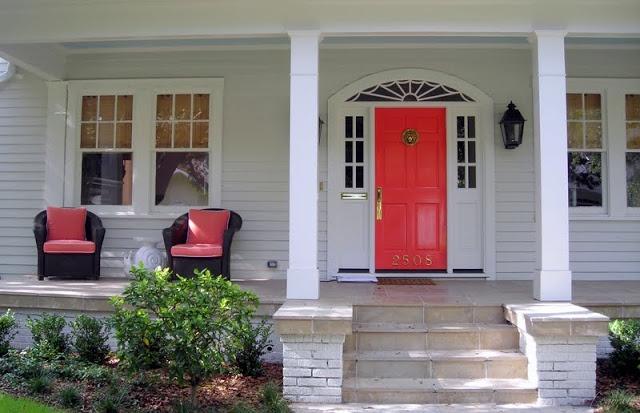 Coral Front Door - LOVE