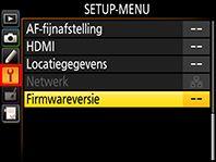 De firmware van de digitale SLR-camera updaten