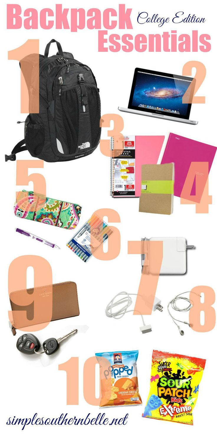 25  best ideas about College backpack essentials on Pinterest ...